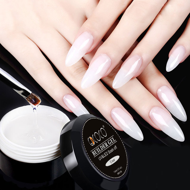 86106 GDCOCO Builder Gel 15ml Nail Art Natural Pink Clear Camouflage Color Extend Nail Gel 45g Finger Extension Nail Crystal Gel 4