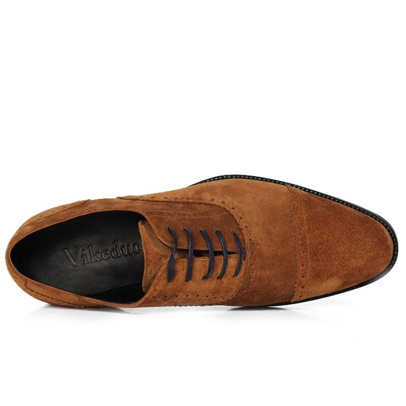 Chaussures 2019 Rétro Brown Véritable Main Vintage De À Mâle La Designer Cuir Oxford Homme Vikeduo Dance Party Décontracté Luxe Robe Mode AwdxXqZCAR
