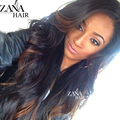 Long Wet Wavy Brazilian Virgin Hair Ombre Glueless Full Lace Wigs Highlight Ombre Brazilian Hair Lace Front Wig For White Women