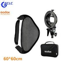 Godox SFUV6060 60×60 см/24*24 дюймов Bowens Softbox + S-Type Кронштейн Держатель + мешок Комплект для Камеры Флэш-Вспышки Speedlite