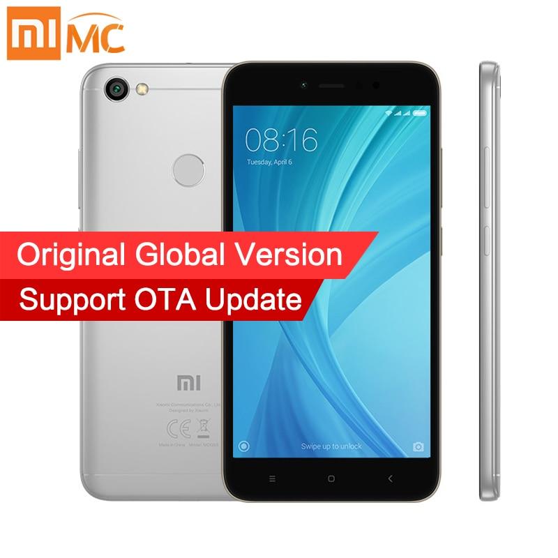 Глобальная версия Xiaomi Redmi Note 5A Prime 3 ГБ 32 ГБ MIUI 9 мобильный телефон Snapdragon 435 Octa Core 5.5 дюймов 16mp Камера отпечатков пальцев