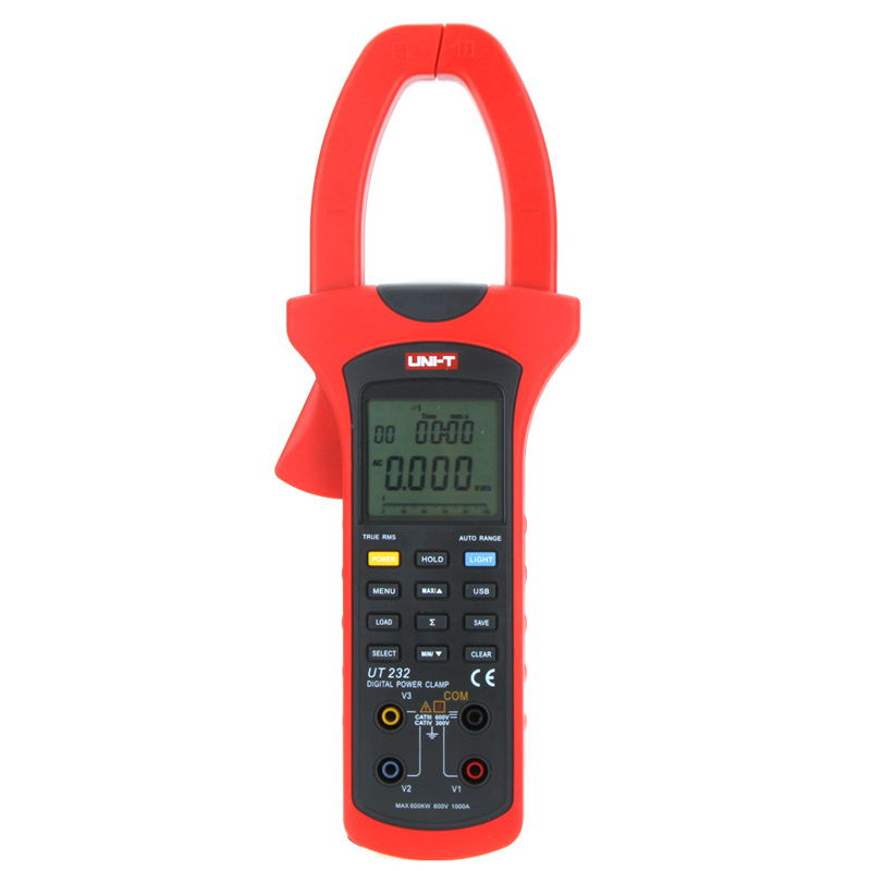 New Arrivals UNI-T UT232 Three Phase 600KW Power Current Clamp Meter RMS Digital Angle USB Interface Data Multimeter China new arrivals ut206 3 3 4 digital auto range current clamp multimeter capacitance 1000a 600v uni t meter with temperature china
