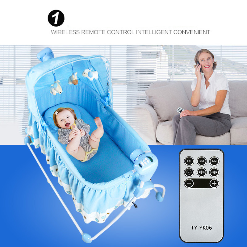 Berceau Big Baby Electric Concentretor Shaking Bed Cradle Rocking Chair Sleeping Child Bb Elysium Supplies Folding Bluetoot 2017 new babyruler portable baby cradle newborn light music rocking chair kid game swing