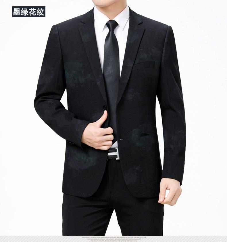 WAEOLSA Stylish Men Slim Fit Blazers Dark Flroal Print Suit Jackets Man Fashion Blazer Masculino Smart Casual Costume Mens Blazers Office (7)
