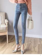 JUJULAND Fashion Women Solid Push Up Blue Sexy Denim Jeans Skinny High Waist Stretch For Female Pencil Pants 6596