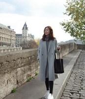 Autumn Winter Fashion Women Long Warm Coats Casual Cotton Padded Wool Blends Coat Solid Oversized Long Coat