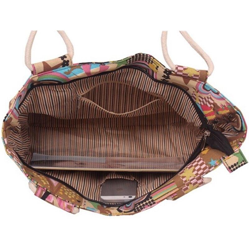 Slobodno Pismo Uzorak Canvas Ženska torbica Velikog kapaciteta - Torbe - Foto 6