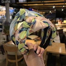 Colorful Women Hairbands Fruit Color Wide Hair Band Big Knot Hoop Girls Styling Tool Accessories Headwear