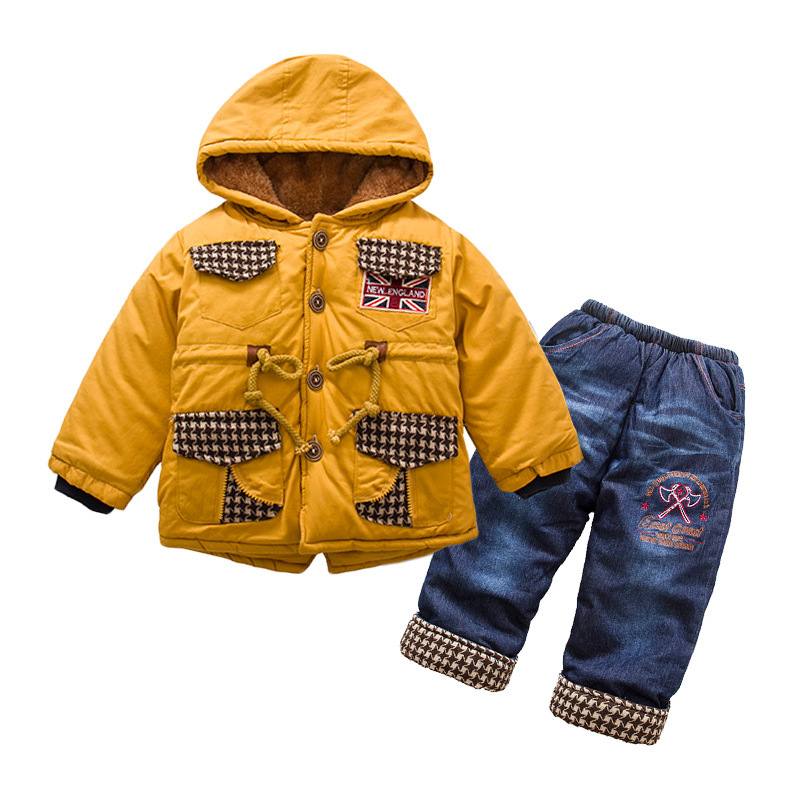 Anlencool-boys-cotton-suit-British-style-classic-lattice-models-baby-set-Padded-winter-clothes-suit-High-quality-baby-clothing-3