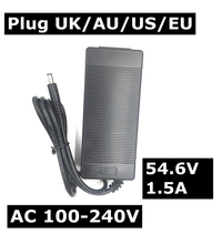 100-240V DC54.6V 1A polymer lithium battery charger DC 5.5MM*2.1MM Portable Charger EU/AU/US/UK Plug