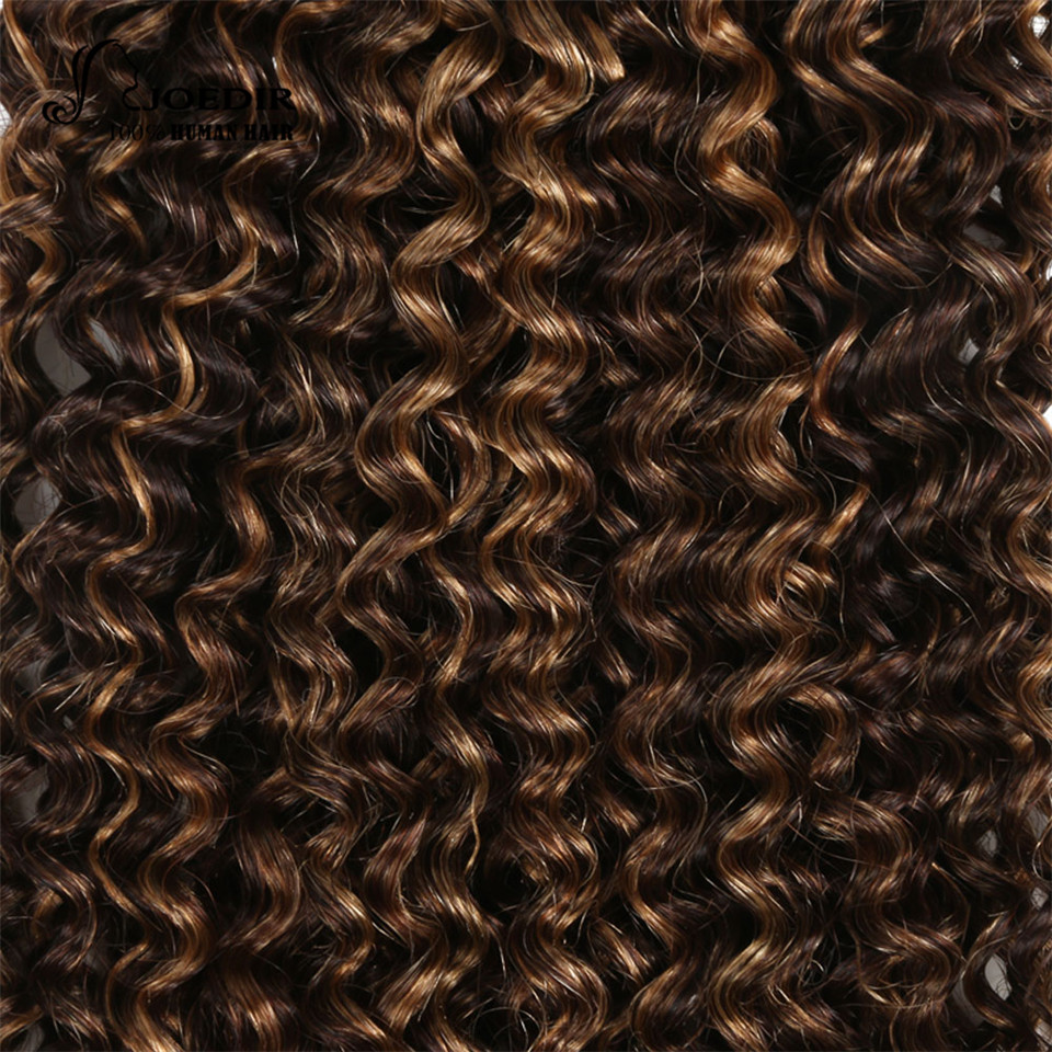 Joedir Pre Colored Brazilian Remy Human Hair Weave Afro Kinky Curly