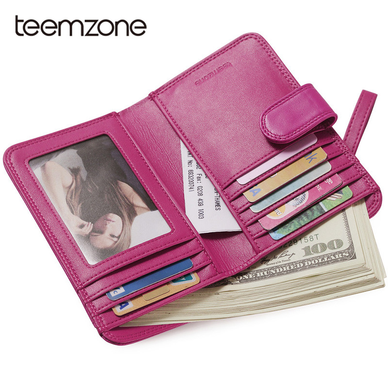 Teemzone Brand Coin Purse Genuine Leather Women Purse Wallet Female Card Holder Long Lady Clutch Purse Carteira Feminina Q308 famous brand 2017 genuine leather women wallet long purse vintage solid cowhide multiple cards holder clutch carteira feminina