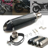31MM 51mm Motorcycle Exhaust Pipe Moto Bike Pot Escape Exhaust Sport Exhaust for KAWASAKI NINJA 250 ZX250R EX250 Z750 R/S z750