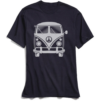 Classic Black T-shirt Men 80s Tshirt Hippie Peace Van Tops Tees for School Day Crew Neck 100% Cotton Short Sleeve T-Shirts ood monster tshirt men s t shirt prevailing father day short sleeve round collar cotton fabric tops tees classic octopus t shirt