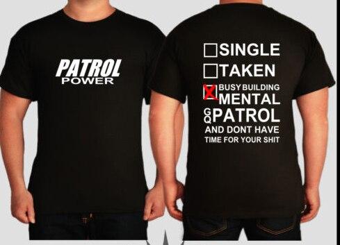 88d5c42a36a61 Camiseta homens mecânico do carro patrulha dois lados impresso casual t EUA plus  size S 3XL em Camisetas de Dos homens de Roupas no AliExpress.com
