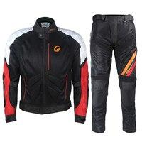 Езда племя мотогонок костюм для мужчин сезон: весна лето куртка и брюки для девочек сетки Мотокросс шестерни езда защитная одежда