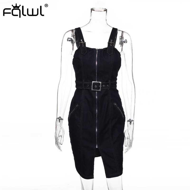 FQLWL Спагетти ремень джинсовые джинсы летний женский сарафан ремень сексуальное обтягивающее женское платье обертывание мини клуб короткие платья для вечеринок