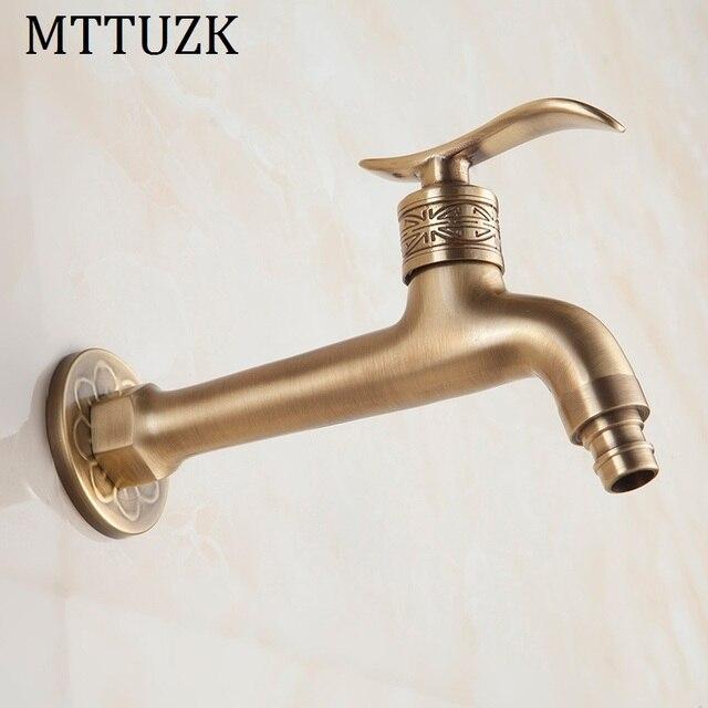 Aliexpress.com : Buy MTTUZK Antique Brass Finish Bathroom Mop Faucet ...