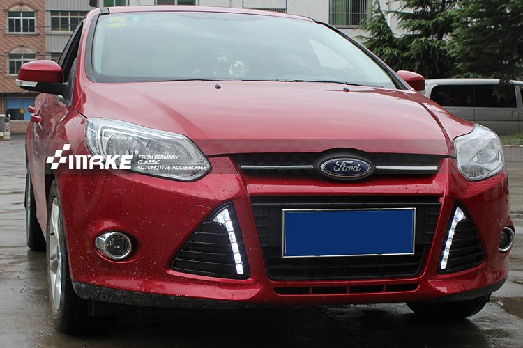 Matt surface led drl daytime running light for Ford focus 2012-13 top quality super bright floss surface ladder shape drl led daytime running lights for 2012 ford focus