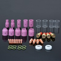 40pcs Alumina Nozzle Collets Body Stubby Gas Lens 10 Pyrex Glass Cup O Rings Kit For
