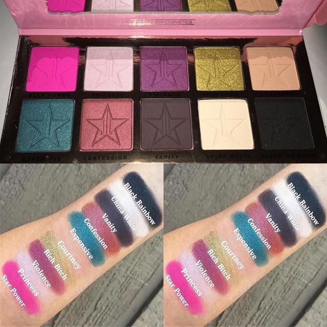 10 Colors Pigment Eyeshadow Palette Cosmetic Eye Shadow Stars Colorful Eyeshadow Palette Makeup