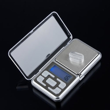 Professional Kitchen Electronic Scales 500g x 0.1g Digital Mini Pocket Lab Jewelry Scale Portable LCD Backlight Food balance AA