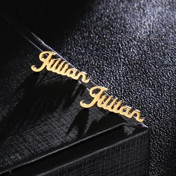 c003821a00fc 1 par personalizado nombre personalizado pendientes para las mujeres  personalizar inicial cursiva placa pendiente de la joyería
