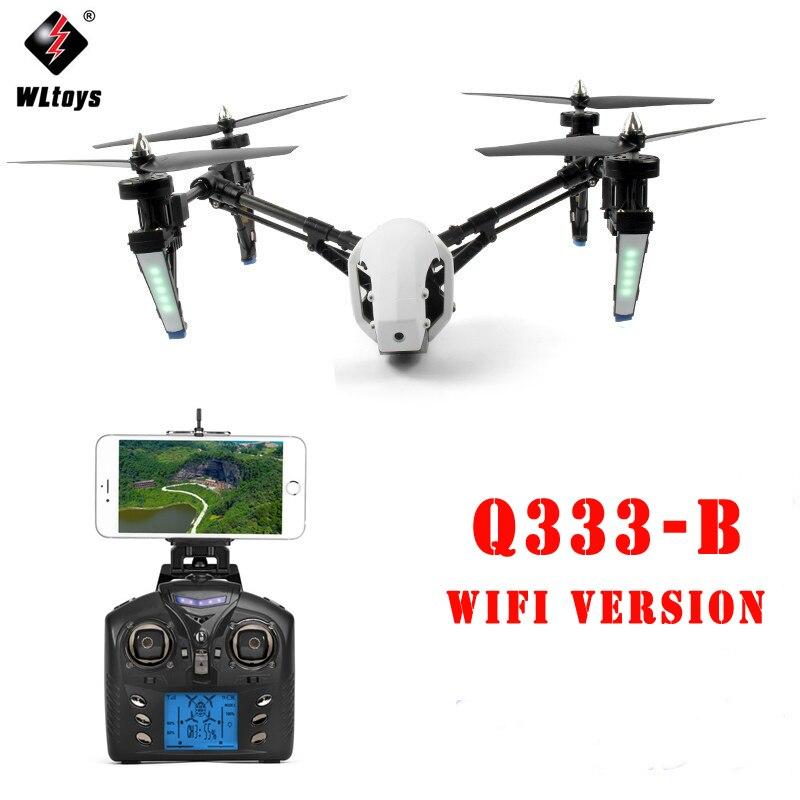 WLtoys Q333-B Q333B 4CH Gyro Transformer One-Key-return & Headless Mode WiFi FPV RC Quadcopter RTF Aircraft with 0.3MP Camera jxd 509w wifi fpv rc quadcopter rtf 2 4ghz with camera headless mode one key return christmas gift jxd 509 wifi version