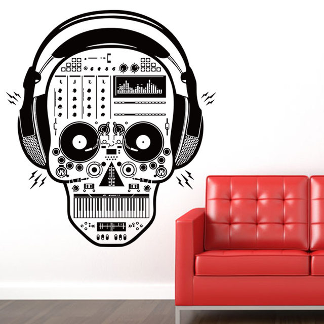 Online Shop Musica Scheletro Creativo 3D Decorazione Adesivi IN ...