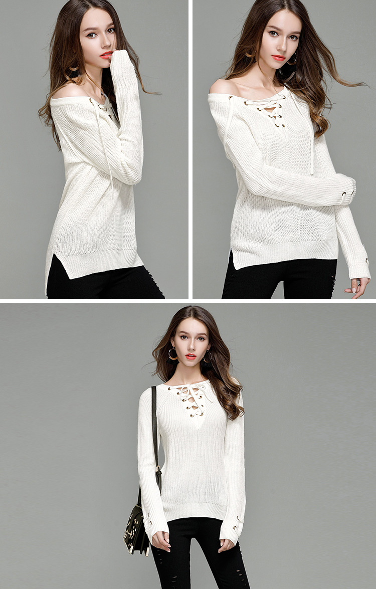 HTB1vy2WSXXXXXbDaXXXq6xXFXXXC - Sexy V-Neck With Knitted Long Sleeve Sweater JKP286