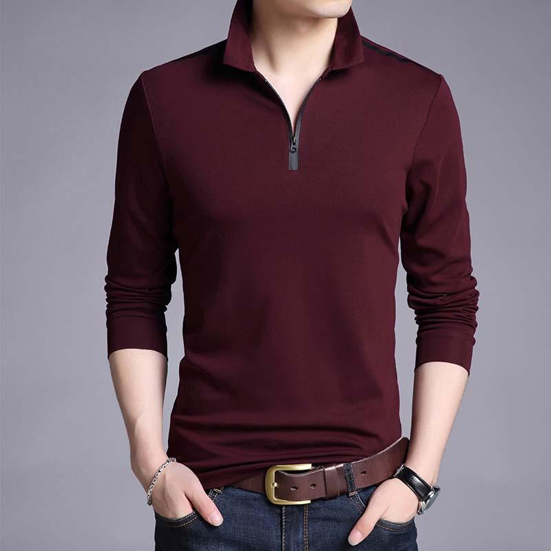 Men's Cotton Polo Long Sleeve Shirt 3