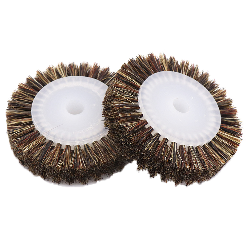 1 PCS 3 Inch Plastic Core Horse Hair Polishing Wheel Horse Hair Brush Wood Carving Polished Brown Brush