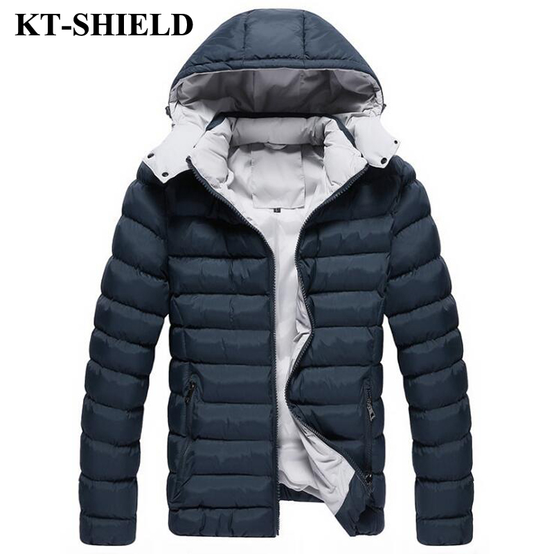 2017 New Winter Parka Outerwear Men Jacket Warm Thickening Down Cotton Hooded Jacket For Men Parka