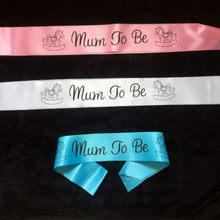 1PC/2PC/3PC Footprint Mum To Be Sash Baby Boy Girl Baby Shower Decoration Sash Newborn Party Decoration Pregnant Mom Favor Gifts(China)