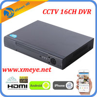 16CH CCTV DVR Recorder With P2P Cloud Easy Remote Access 16 Channel CVBS Cameras DVR Real