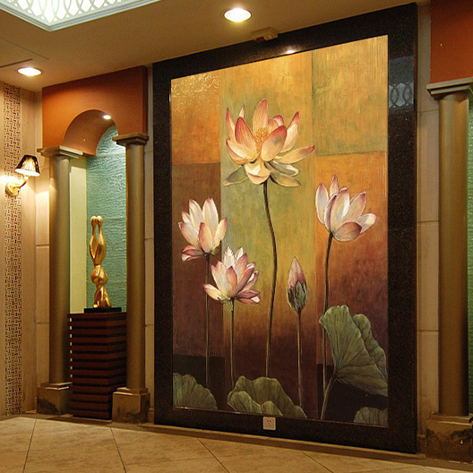 Photo wallpaper 3D Thai style hand-painted mural restaurant hotel living room bedroom coffee shop lotus wallpaper mural free shipping watercolor art living room lobby mural fashion salon shop clothing store restaurant lounge bar wallpaper