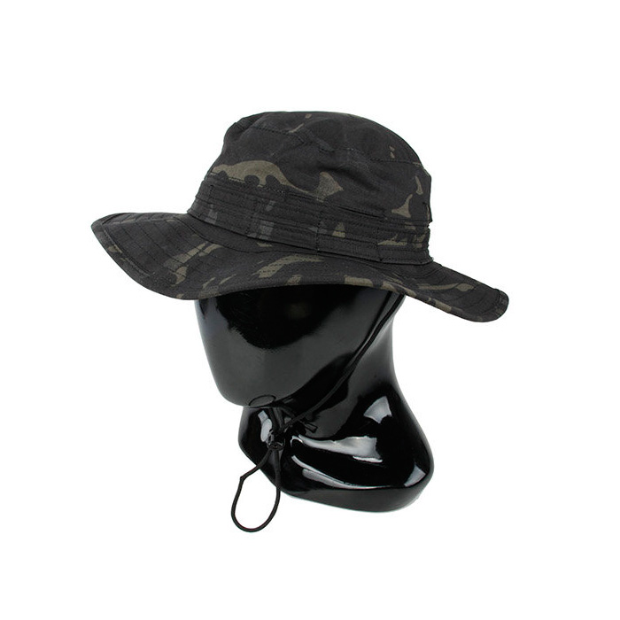 df5af66e7a Multicam Black Men s Tactical Bucket Hat with wide brimmed edge MCBK army  Round brimmed Sun Boonies hat Outdoor Camo bucket hat-in Bucket Hats from  Apparel ...