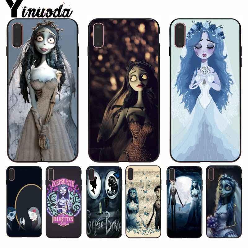 Tim Burton Yinuoda Corpse Bride Projeto Da Novidade Fundas Caso de Telefone Capa para iPhone 5 8 7 6 6S Plus 5S SE XR X XS MAX Coque Shell