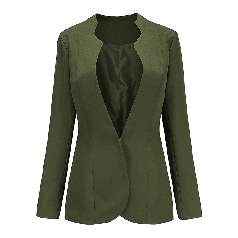 autumn new fashionable office lady wearing blazer feminino single long sleeve single button ol female formal blazer femme FR016