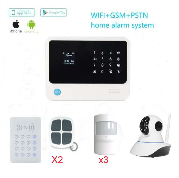 433mhz  Russian/Spanish/English/French Languages gsm  WiFi Alarm System Home Security GSM Alarm System with 720HD IP Camera plagiarism detection system for afghanistan s national languages
