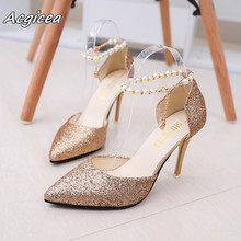 Buy gold glitter shoes and get free shipping on AliExpress.com 4296e2adae0f