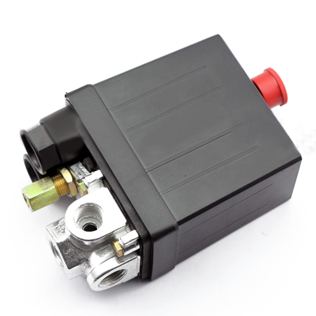 Practical Heavy Duty Air Compressor Pressure Switch Auto Control Valve 240V 16A 90 PSI -120 PSI Mayitr heavy duty air compressor pressure control switch valve 90 120psi 12 bar 20a ac220v 4 port 12 5 x 8 x 5cm promotion price