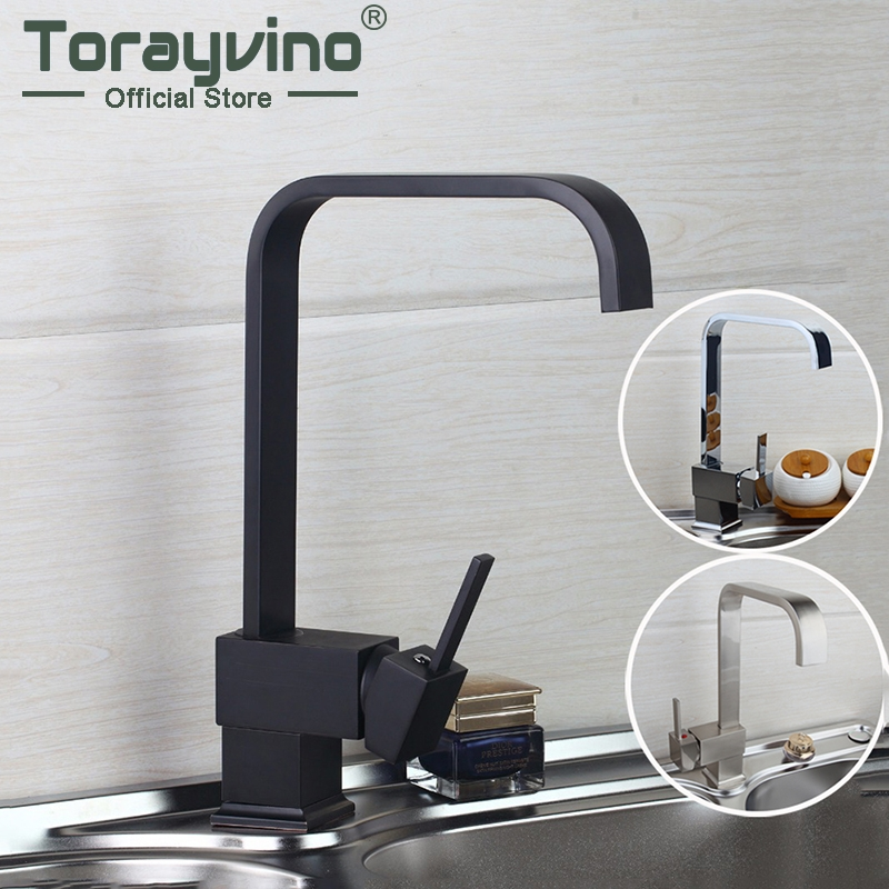 Kitchen Faucets Mixer  360 Swivel Mixer Tap Brass Faucet Nickel  Brushed Brass Material Kitchen Taps&Faucets
