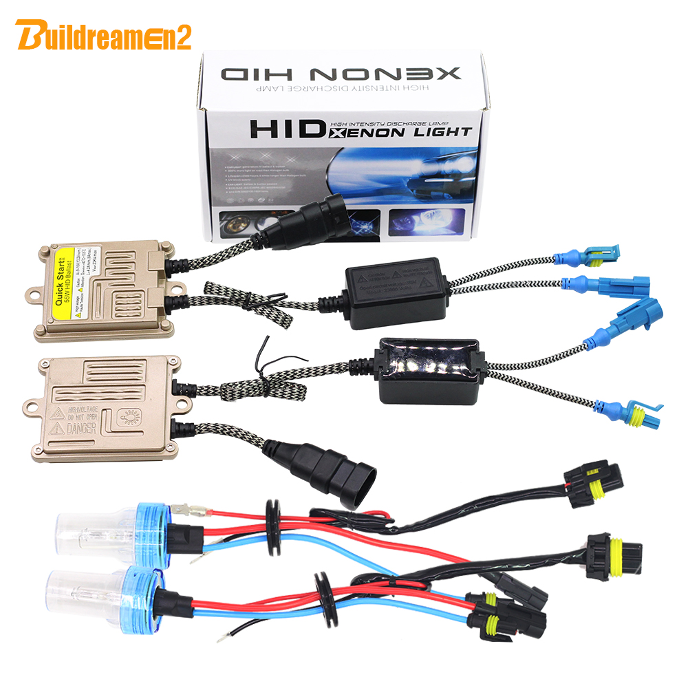 Buildreamen2 H7 55W Auto Light HID Xenon Kit AC Ballast Bulb High Lumen 3000K 4300K 6000K