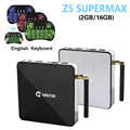 2 GB/16 GB Amlogic S912 Android TV Box Z5 Supermax 6.0 Octa Core Dual wifi google play store 4 k smart tv set top box media player