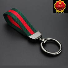 Car Keychain Handmade Leather Braided Rope Nylon Key Rings Mens waist hanging Holder Auto Accessories