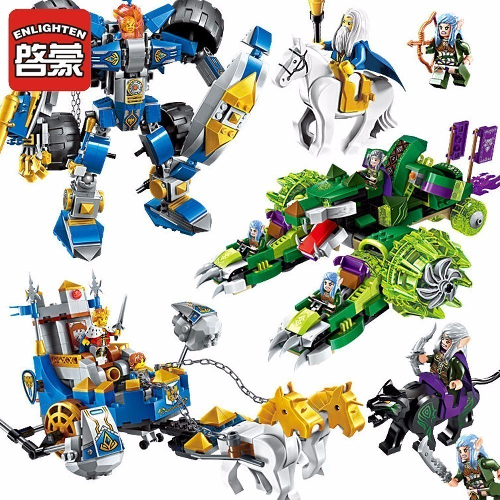 Enlighten Glory Heros Knight man War Building Blocks Children military Toys Gifts Castle Blocks Compatible lepin enlighten building blocks navy frigate ship assembling building blocks military series blocks girls