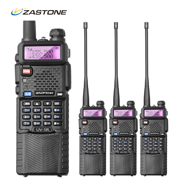 4Pcs lot BaoFeng UV5R Original Walkie Talkie Portable Radio Set Handheld Two Way Radio CB Walkie