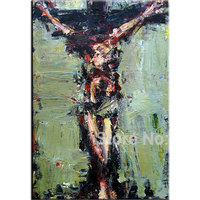 hand painted Jesus oil painting Christ good Friday canvas wall art abstract religion canvas picture Jesus on the cross