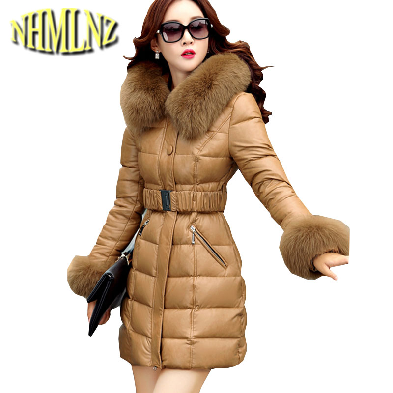 2017 New Winter Jacket Chinese Style Women Coat Thick Super Warm Cotton Overcoat Hooded Fur leather Jacket Women Plus size OK274 women winter coat leisure big yards hooded fur collar jacket thick warm cotton parkas new style female students overcoat ok238